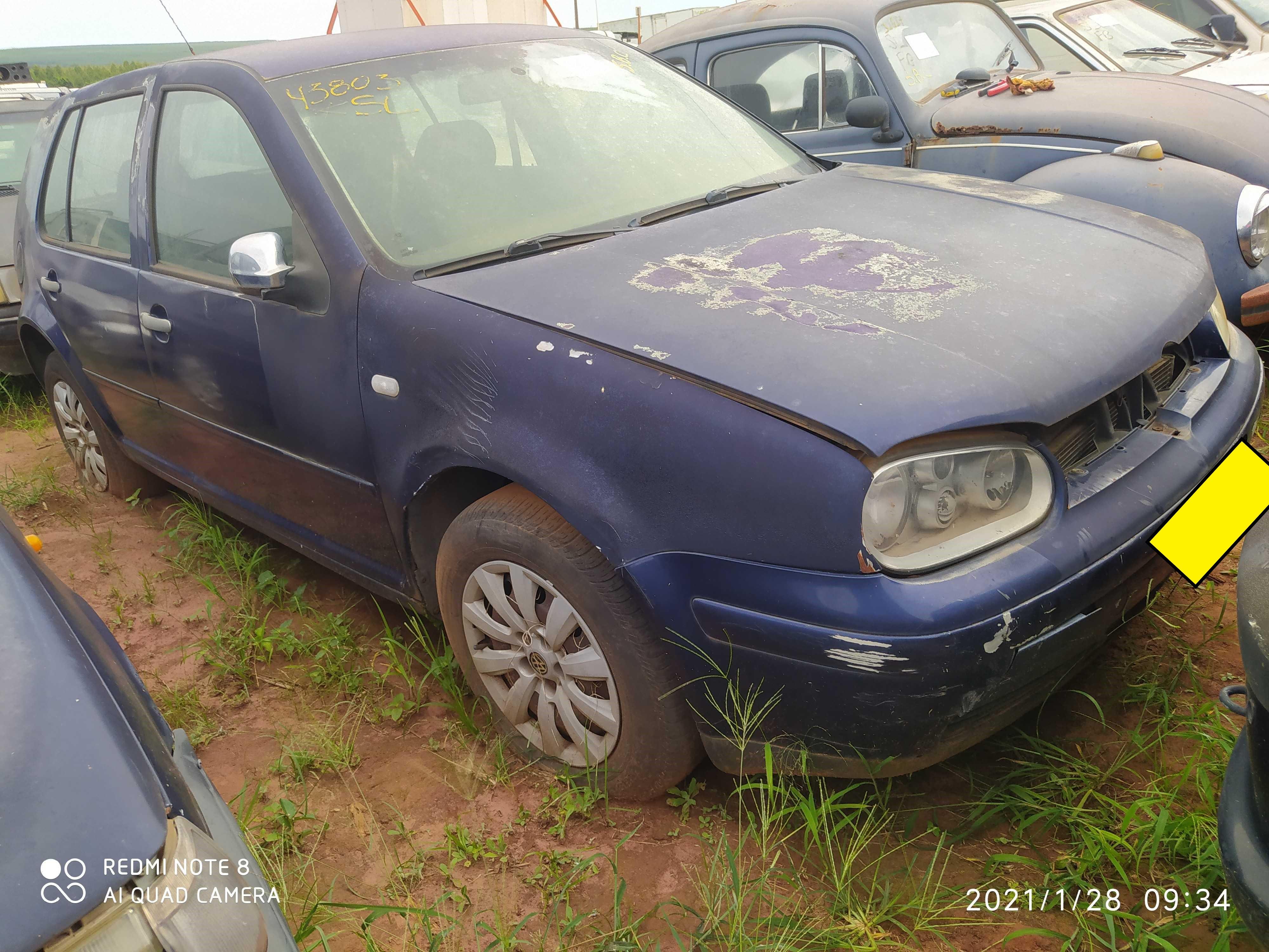 VW/GOLF - 1999/2000 - Sucata aproveitável motor inservível
