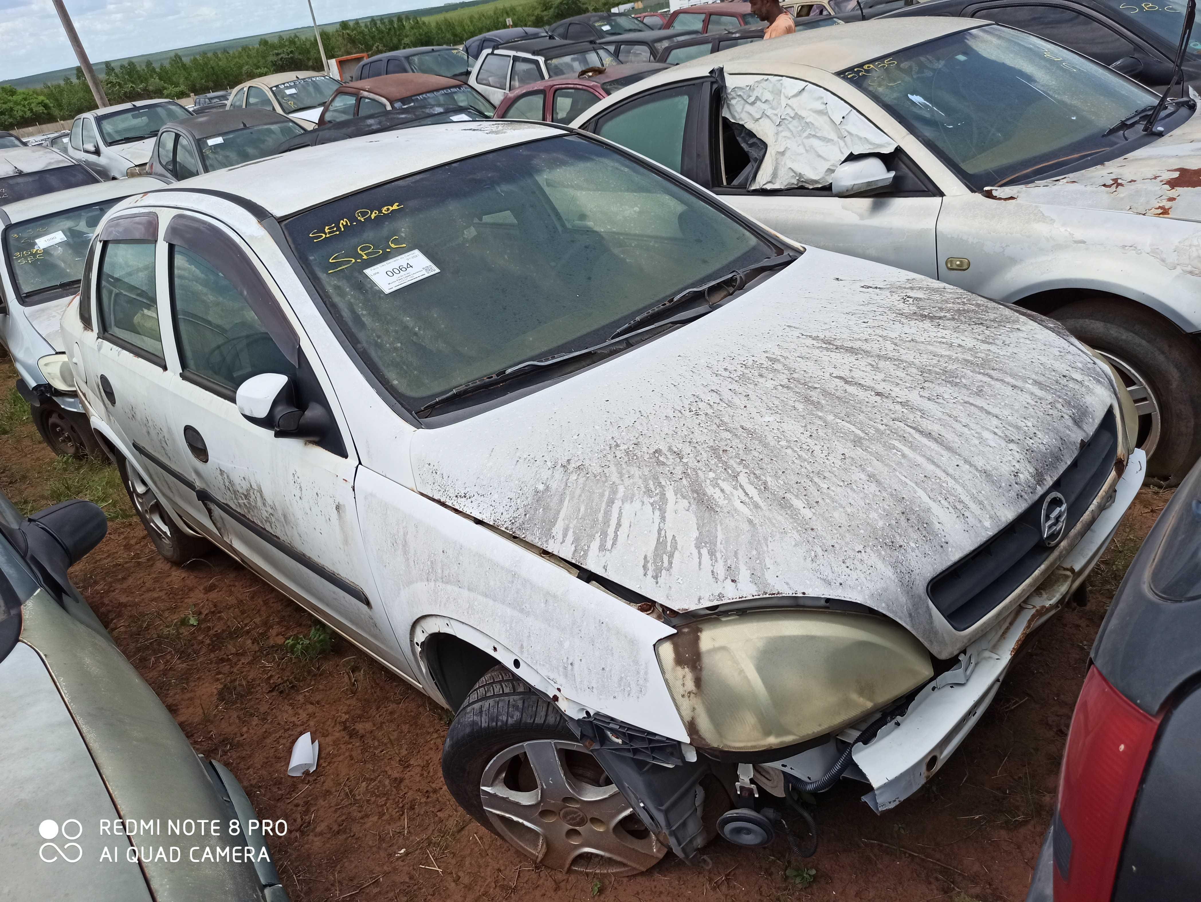 GM/CORSA SEDAN - 2002/2003 - Sucata aproveitável motor inservível